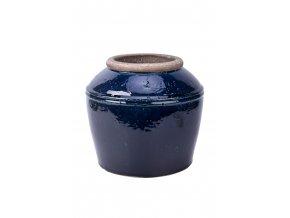 Váza antik černá glazurovaná