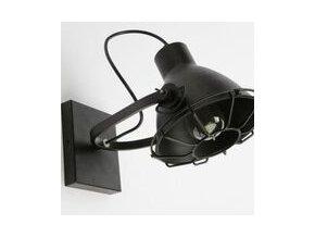 Lampa černá závěsná industriál