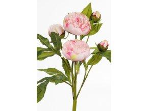Umělá květina - Pivoňka růžová svazek