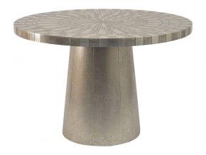 Stůl kulatý v kovově stříbrném designu