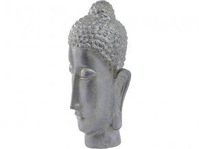 Budha v kovově stříbrné barvě