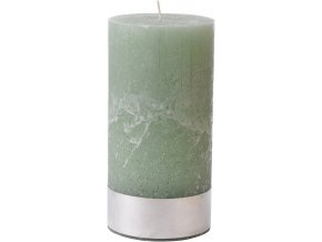 Svíce rustikální olivově zelená 10x20