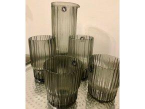 Karafa na vodu kouřové sklo