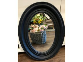 Zrcadlo oválné černé