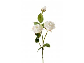 umela-kvetina-ruze-bila-s-poupetem