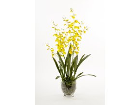 umela-kvetina-orchidea-zluta-drobnokveta-v-kvetinaci