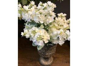Umělá květina - Fiala bílý květ 25 cm