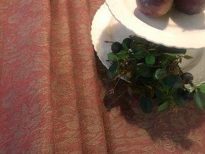 Běhoun na stůl lněný  50x150, rubínově červená barva