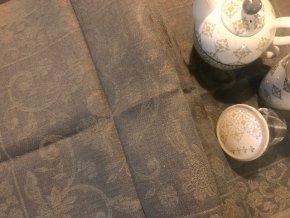 Běhoun na stůl lněný 50x150, antracitová barva