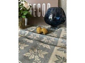 Běhoun na stůl lněný 50x150, modrá barva