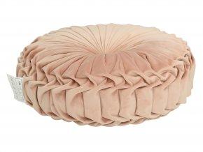 Polštář kulatý v růžové barvě