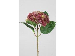 Umělá květina - Hortenzie malá bordo