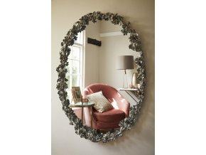 zrcadlo-floral-starostribrny-oval