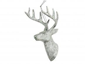 vanocni-ozdoba-hlava-jelena-bila