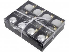 vanocni-ozdoba-box-12-ti-stribrnych-kulicek