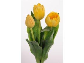 umela-kvetina-tulipan-zluty-mix