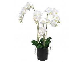 umela-dekorace-orchidea-bila-ve-skle-130cm