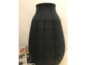 Váza keramická černá Isaac 40cm