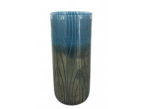 vaza-sklenena-modrobronzova-ambra-35cm