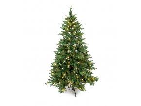 Umělá dekorace - Vánoční stromeček Tinde jedle se světýlky 210cm