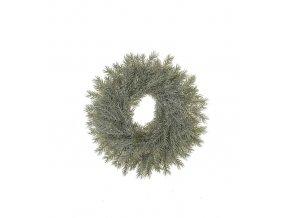 Umělá dekorace - Věnec smrkový s námrazou 40cm