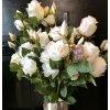 Umělá květina - Růže bílá s poupětemMP0269