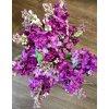 Umělá květina - Šeřík fialový květ 25 cm