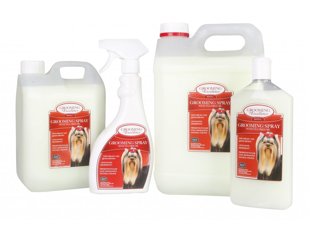 Grooming spray group