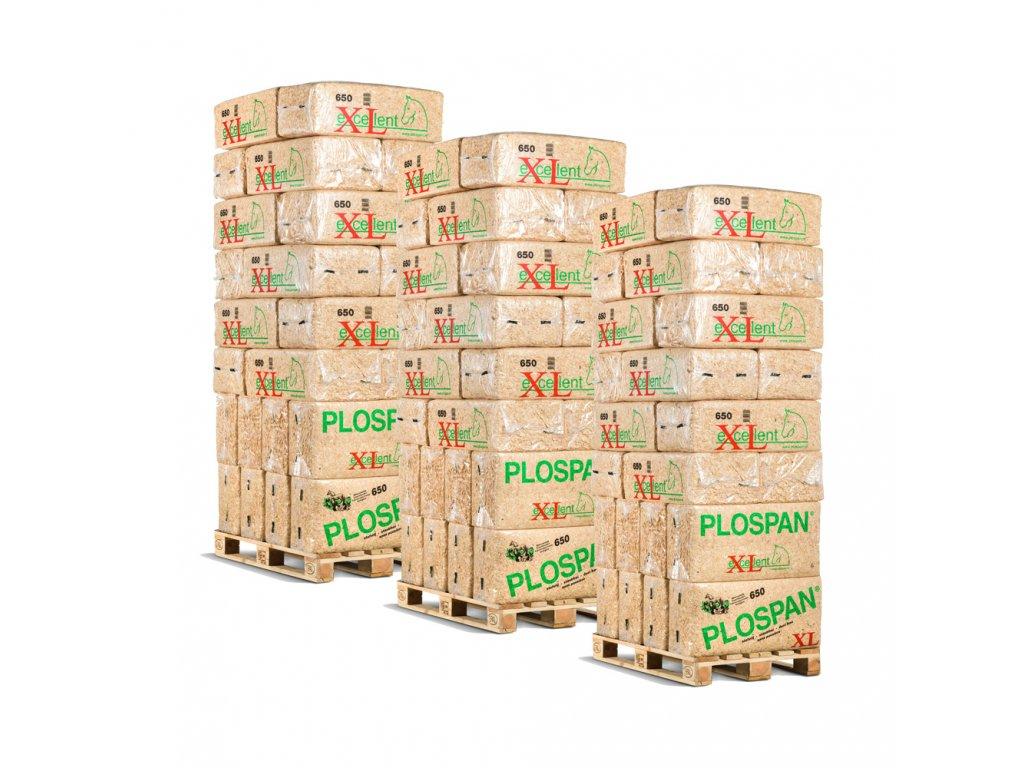 Podestýlka pro koně Excellent - kamion  1 kamion = 594 balíků = roz. objem 386.100 litrů