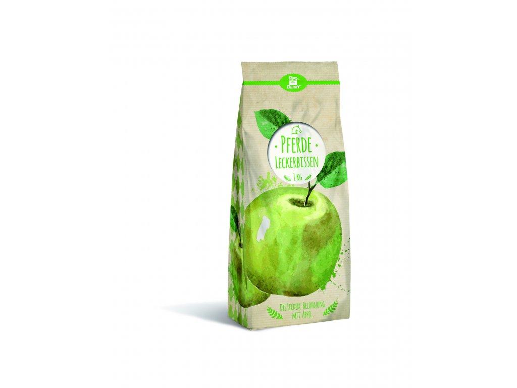 Pamlsky - Leckerbissen Apfel 1 kg (Derby)  jablečné pamlsky pro koně