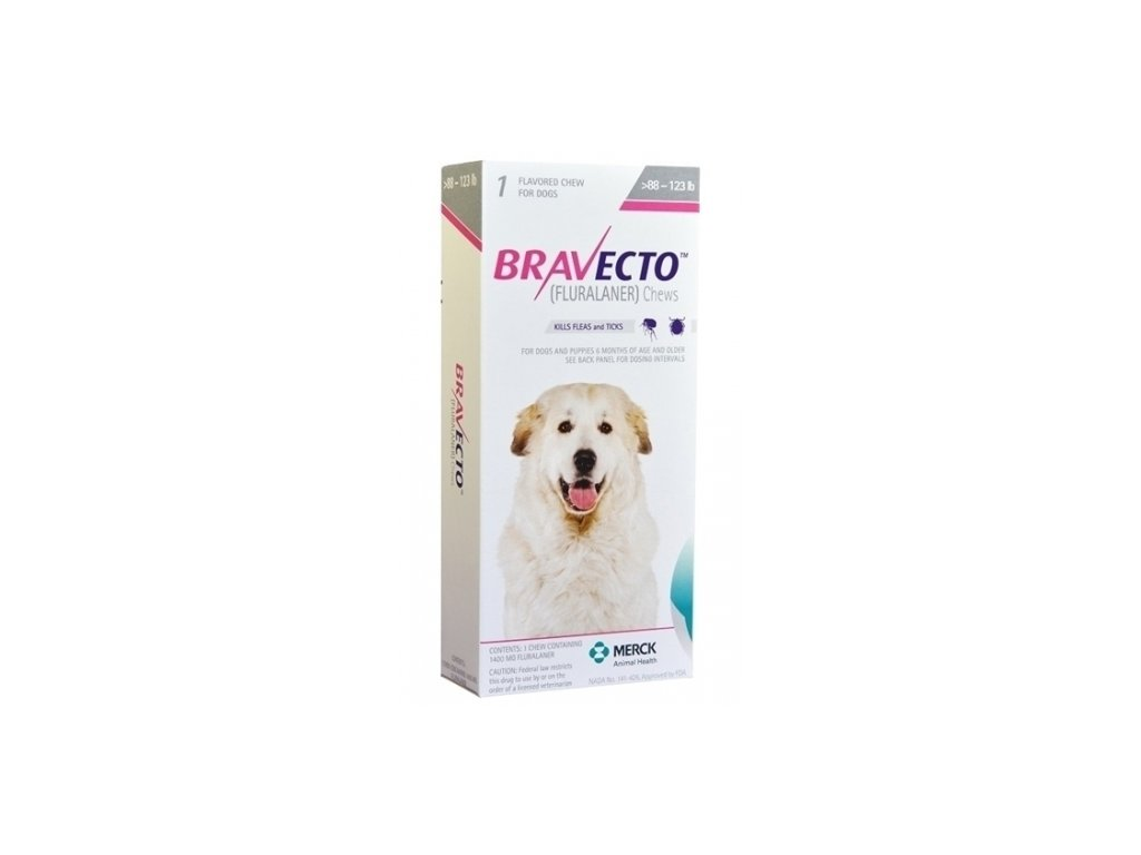 MSD Bravecto 1400 mg for dogs between 40 and 56 kg 1 chewable tablet AIAVDIK 11035