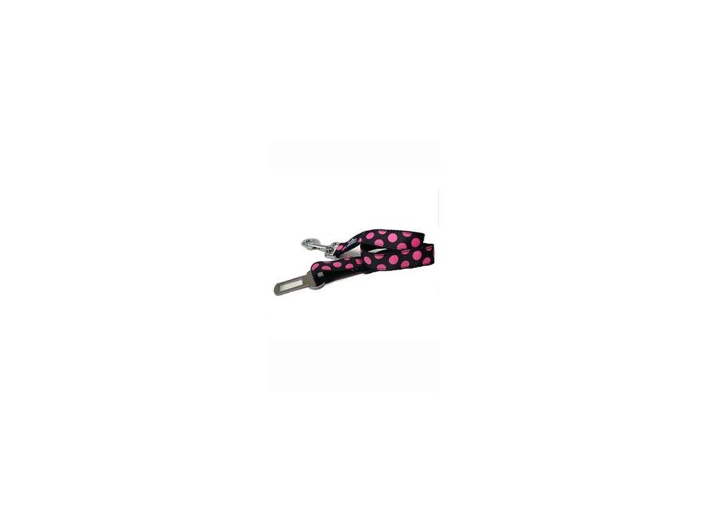 Bezpečnostní pás DINOFASHION růžový puntík