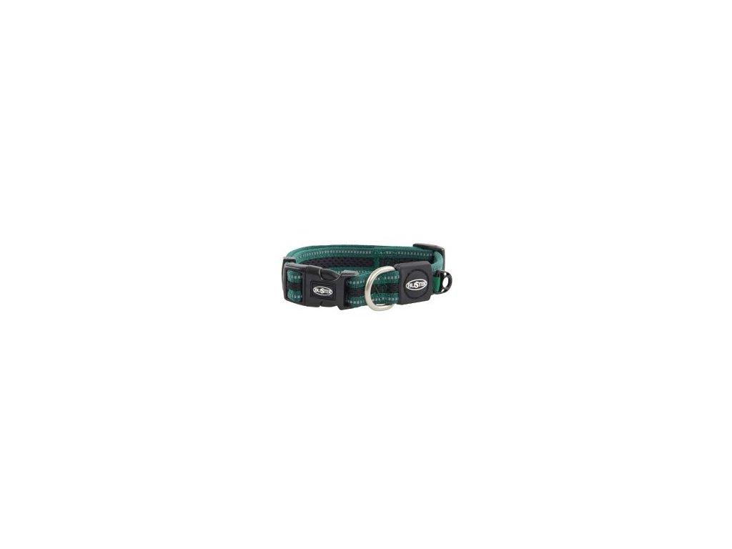 Obojek BUSTER Airmesh reflexní S 27-40cm/20mm zelený