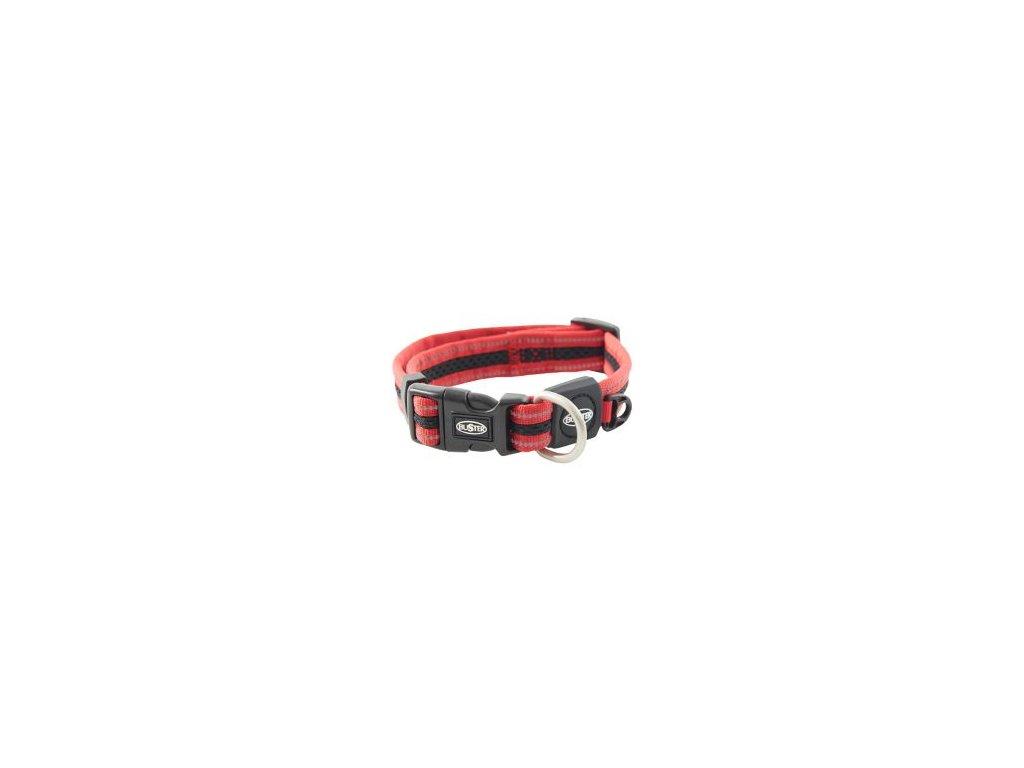 Obojek BUSTER Airmesh reflexní XL 48-78cm/25mm červený