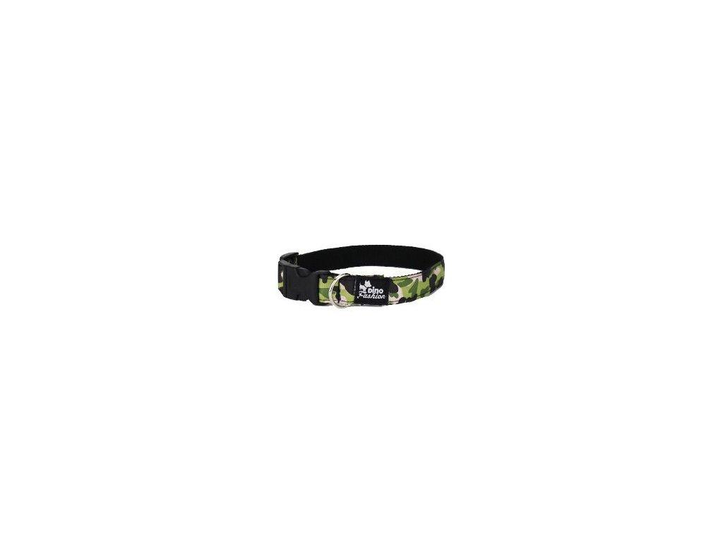 Obojek DINOFASHION Maskáčový zelený 45/2,5cm