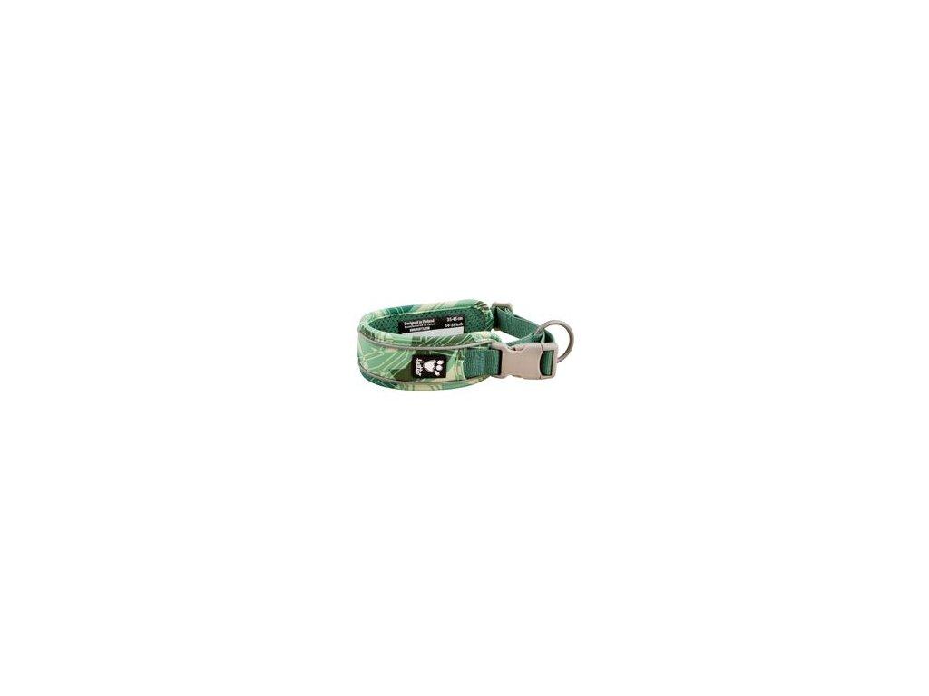 Obojek Hurtta Weekend Warrior zelený camo 55-65cm