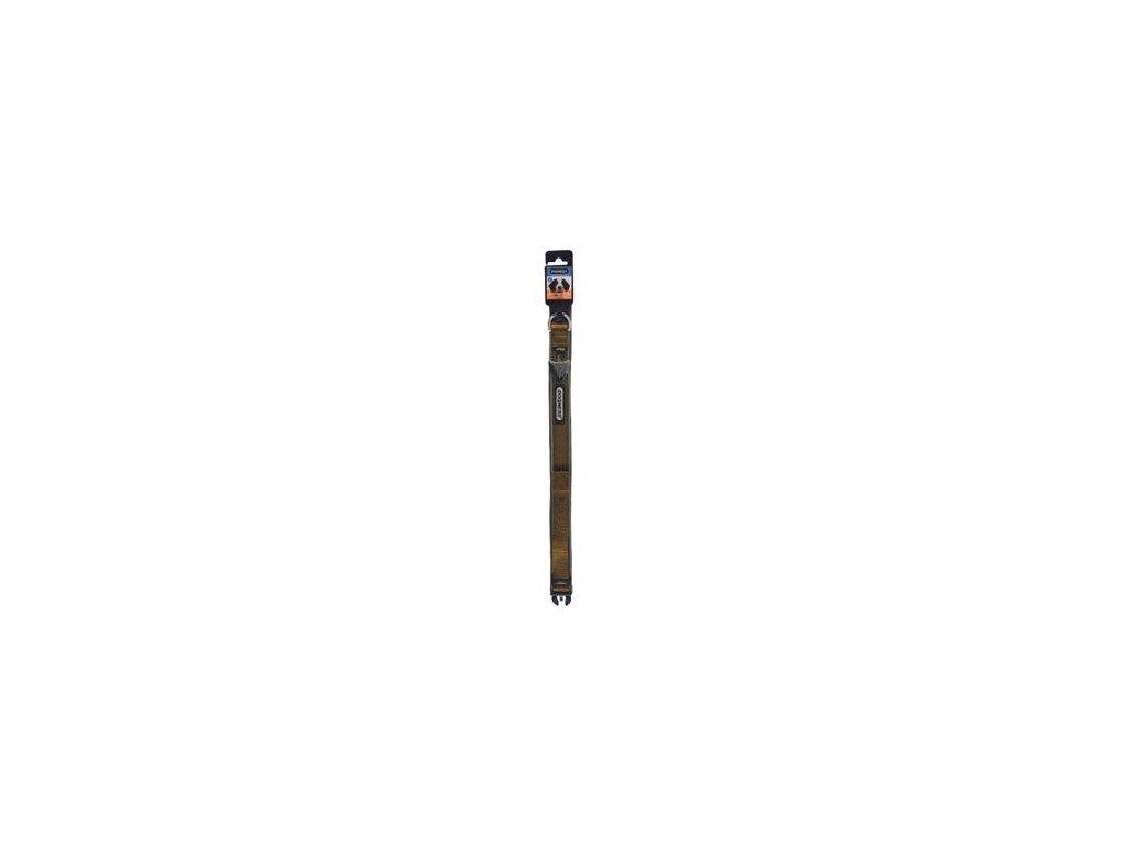 Obojek IMAC nylon hnědý 56-68/3,8 cm
