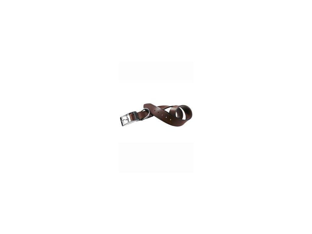 Obojek kožený VIP C 27cmx15mm, hnědý FP 1ks