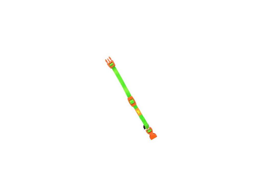 Obojek nylon CLUB C 32cmx10mm zelený FP 1ks