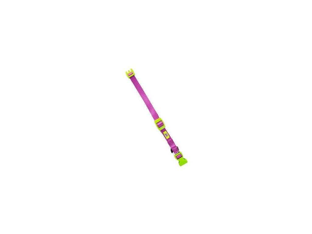 Obojek nylon CLUB C 44cmx15mm světle fialový FP 1ks