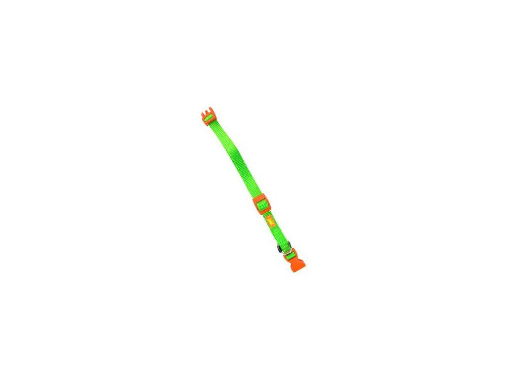 Obojek nylon CLUB C 44cmx15mm zelený FP 1ks