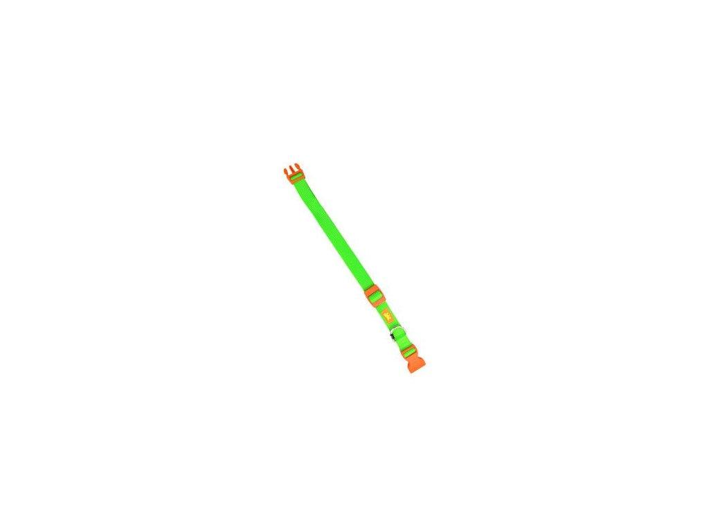 Obojek nylon CLUB C 70cmx25mm zelený FP 1ks