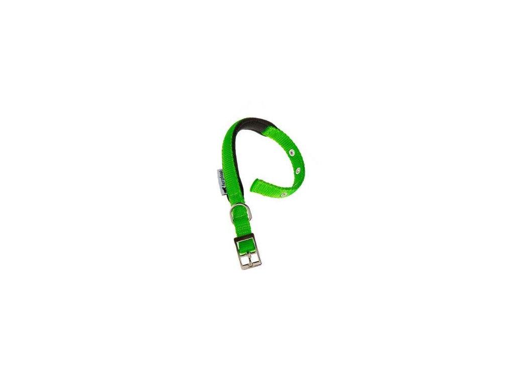 Obojek nylon DAYTONA C 45cmx25mm zelený FP 1ks