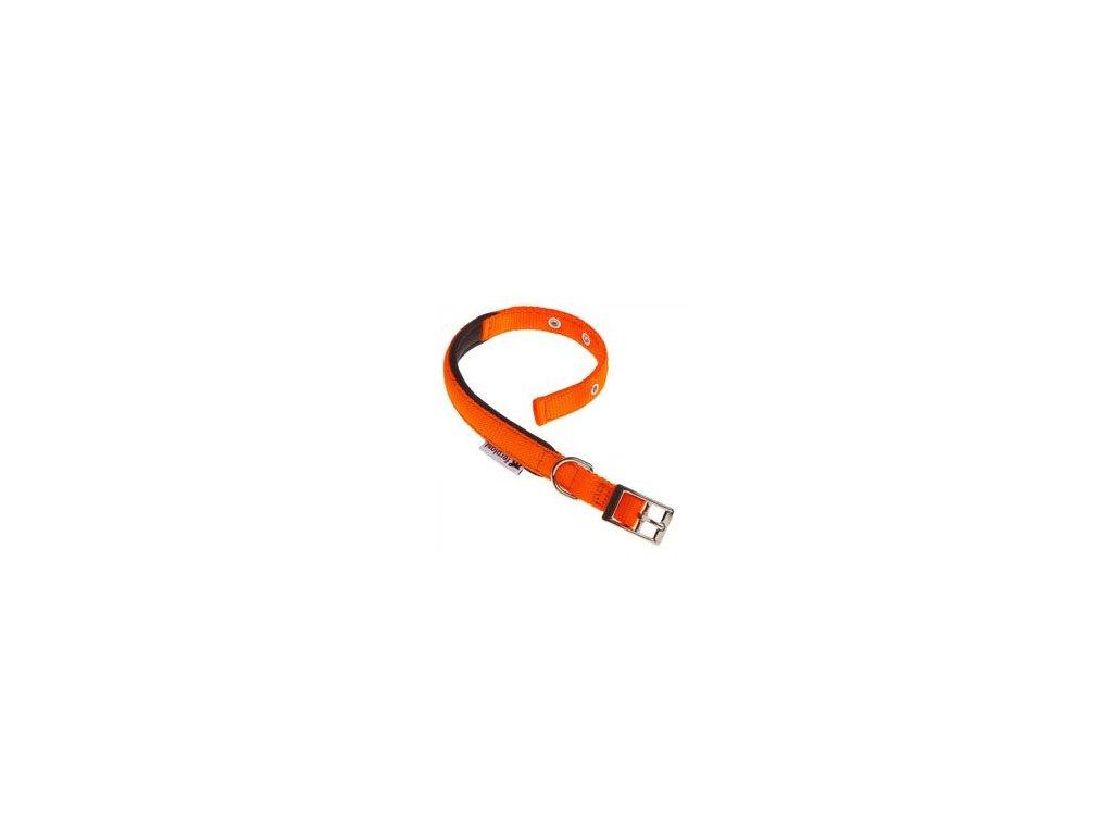 Obojek nylon DAYTONA C 53cmx25mm oranžový FP 1ks