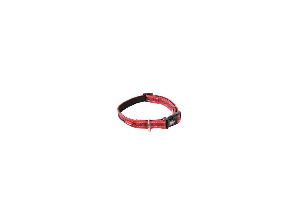 Obojek pes MOOV nastavitelný červená 25mm 45-58cmZolux
