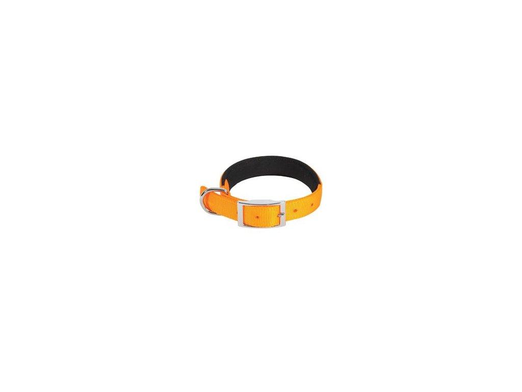 Obojek pes SOFT NYLON oranžový 25mm/55cm Zolux