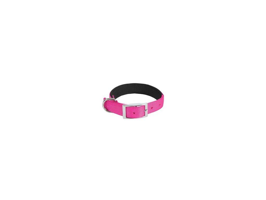 Obojek pes SOFT NYLON růžový 25mm/55cm Zolux