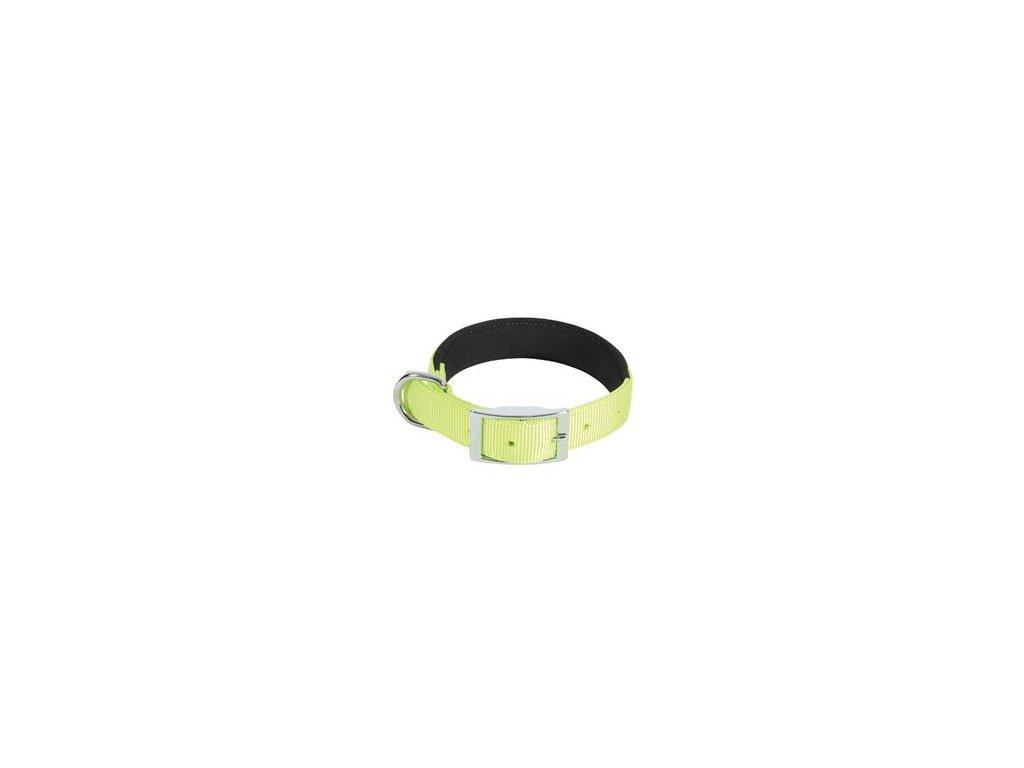 Obojek pes SOFT NYLON zelený 25mm/65cm Zolux