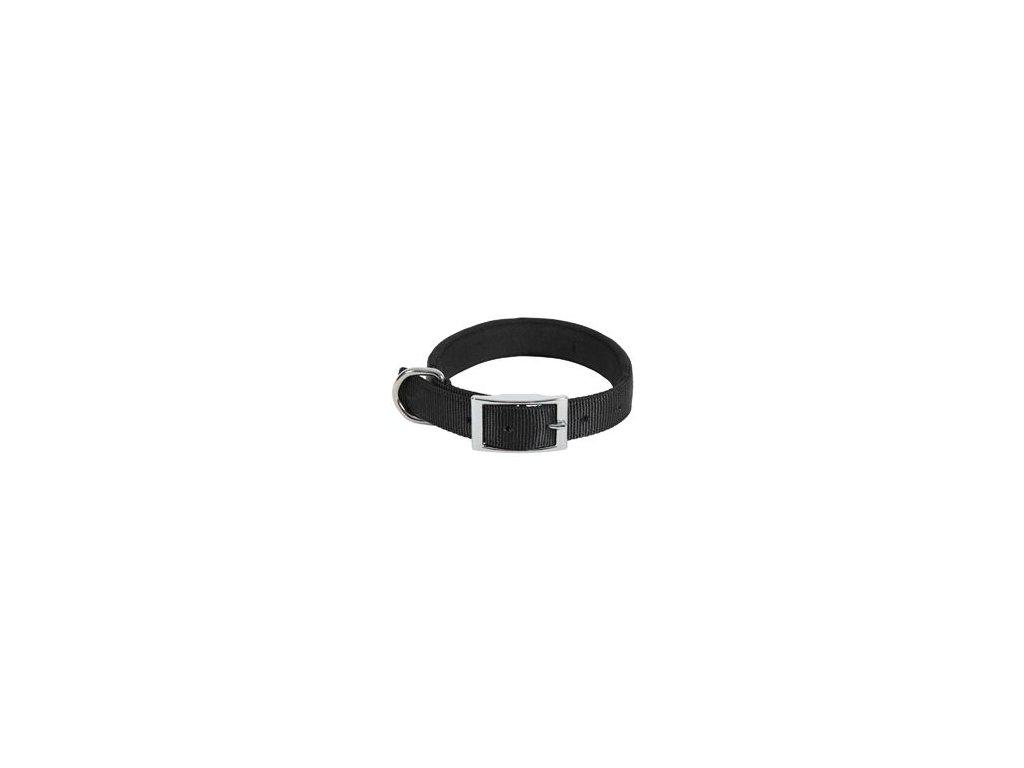 Obojek pes SOFT NYLON černý 25mm/55cm Zolux