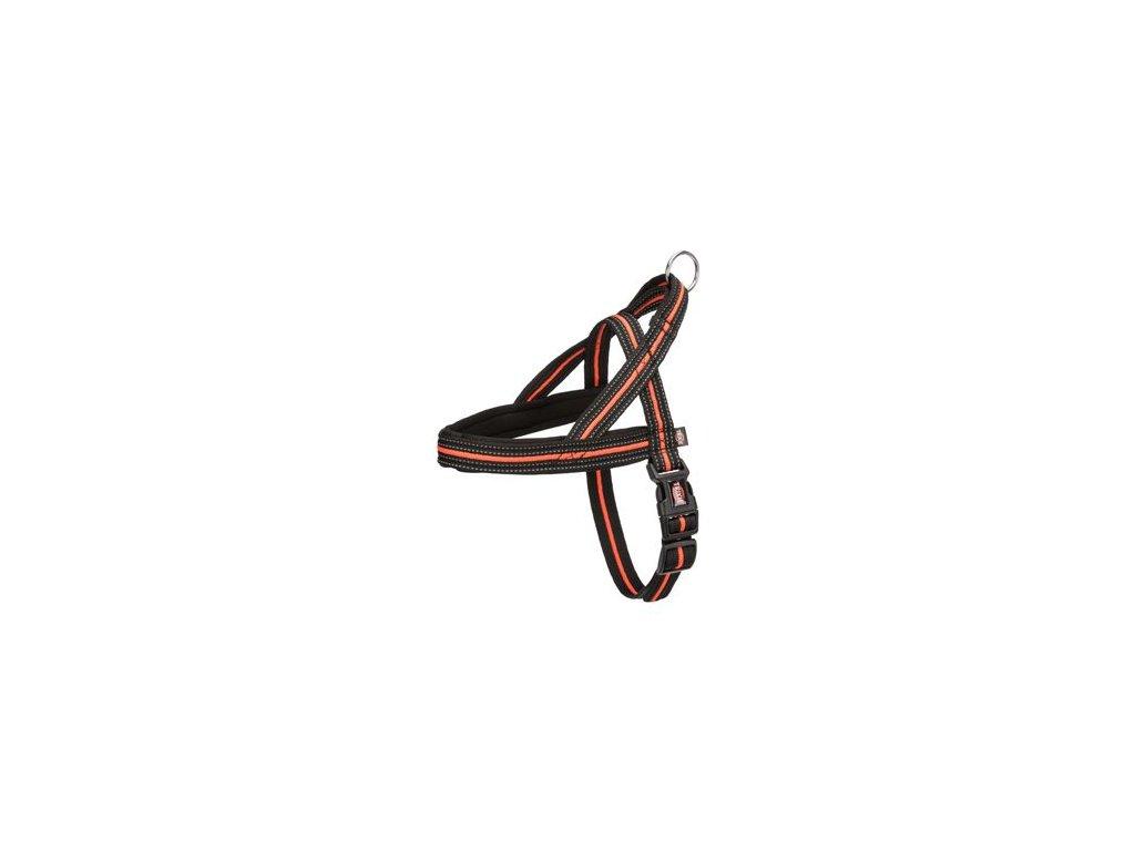 Postroj neopr. FUSION černo-oranž. S-M 30-50cm/35mm TR